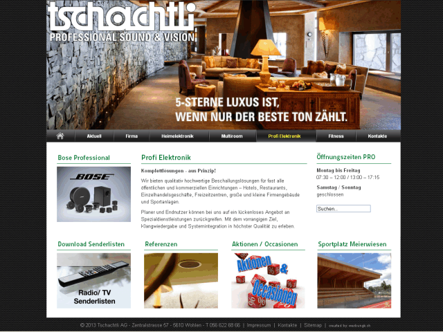 Redesign Website Tschachtli AG